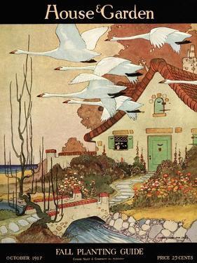 House & Garden Cover - October 1917 by Charles Livingston Bull
