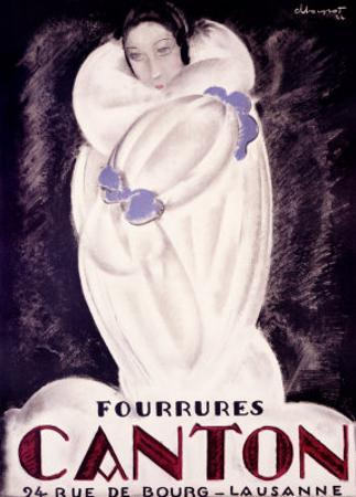 Fourrures Canton, 1924 by Charles Loupot