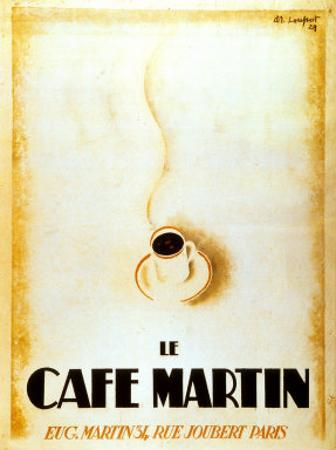 Le Cafe Martin by Charles Loupot
