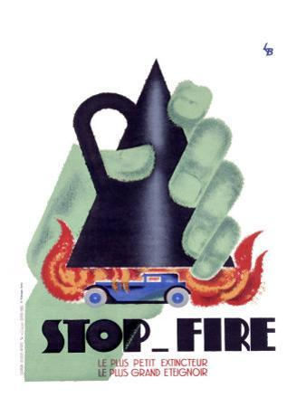 Stop Fire by Charles Loupot