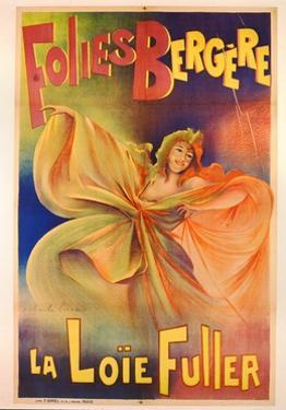 Poster Advertising La Loie Fuller at the Folies Bergere by Charles Lucas