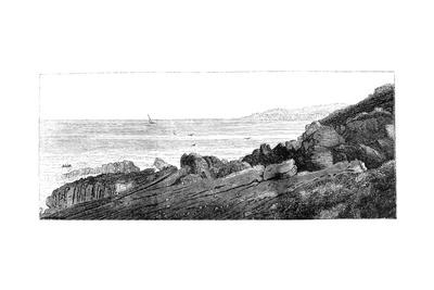 Strata of Red Sandstone, Slightly Inclined, Siccar Point, Berwickshire 1852
