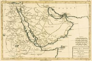 Arabia, the Persian Gulf and the Red Sea, with Egypt, Nubia and Abyssinia, from 'Atlas De Toutes… by Charles Marie Rigobert Bonne