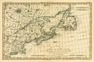 Eastern Canada, Newfoundland, Nova Scotia and St John Island, from 'Atlas De Toutes Les Parties… by Charles Marie Rigobert Bonne