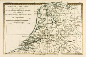 Holland Including the Seven United Provinces of the Low Countries, from 'Atlas De Toutes Les… by Charles Marie Rigobert Bonne