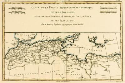 North Africa, Including the Kingdoms of Tripoli, Tunis, Alger; Fez and Morocco, from 'Atlas De…