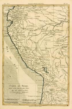Peru, from 'Atlas De Toutes Les Parties Connues Du Globe Terrestre' by Guillaume Raynal (1713-96)… by Charles Marie Rigobert Bonne