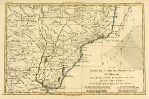 Southern Brazil, from 'Atlas De Toutes Les Parties Connues Du Globe Terrestre' by Guillaume… by Charles Marie Rigobert Bonne