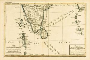 Southern India and Ceylon, from 'Atlas De Toutes Les Parties Connues Du Globe Terrestre' by… by Charles Marie Rigobert Bonne