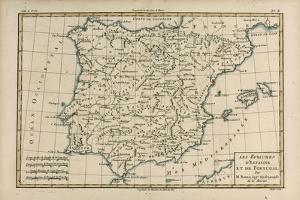 Spain and Portugal, from 'Atlas De Toutes Les Parties Connues Du Globe Terrestre' by Guillaume… by Charles Marie Rigobert Bonne