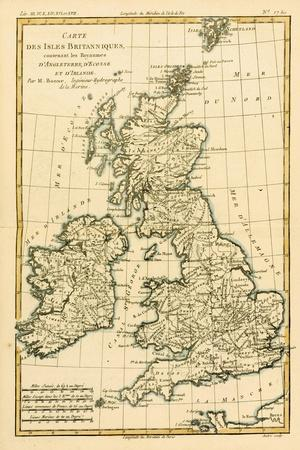 The British Isles, Including the Kingdoms of England, Scotland and Ireland, from 'Atlas De Toutes…