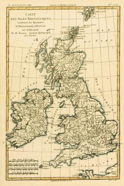 The British Isles, Including the Kingdoms of England, Scotland and Ireland, from 'Atlas De Toutes… by Charles Marie Rigobert Bonne