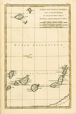 The Canary Islands, with Madeira and Porto Santo, from 'Atlas De Toutes Les Parties Connues Du…
