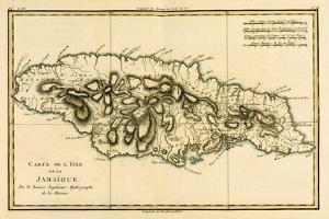 The Island of Jamaica, from 'Atlas De Toutes Les Parties Connues Du Globe Terrestre' by Guillaume… by Charles Marie Rigobert Bonne