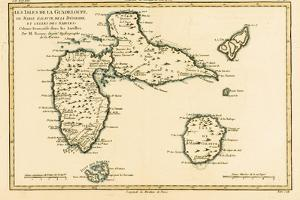 The Islands of Guadeloupe, Marie-Galante, La Desirade, and the Isles Des Saintes, French Colonies… by Charles Marie Rigobert Bonne