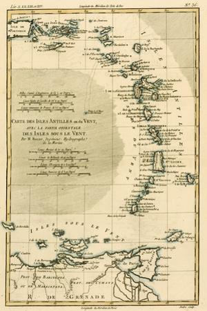 The Lesser Antilles or the Windward Islands, with the Eastern Part of the Leeward Islands, from… by Charles Marie Rigobert Bonne