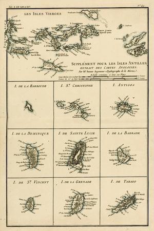 The Virgin Islands, from 'Atlas De Toutes Les Parties Connues Du Globe Terrestre' by Guillaume…
