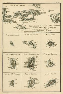 The Virgin Islands, from 'Atlas De Toutes Les Parties Connues Du Globe Terrestre' by Guillaume… by Charles Marie Rigobert Bonne