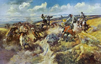A Tight Dally and a Loose Latigo by Charles Marion Russell
