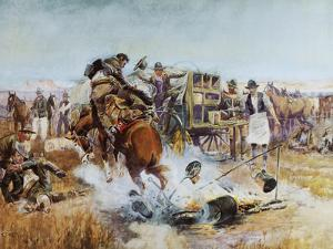 Bronc to Breakfast by Charles Marion Russell