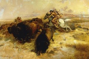 Buffalo Hunt, 1897 by Charles Marion Russell