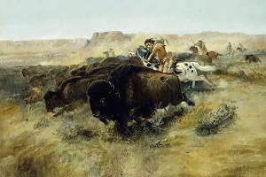 Buffalo Hunt No. 7, 1892-1895 by Charles Marion Russell