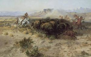 Buffalo Hunt Number 26, 1899 by Charles Marion Russell