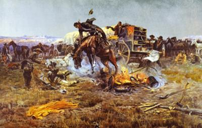 Camp Cook's Troubles by Charles Marion Russell