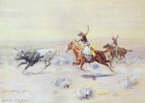Cowboys from the Bar Triangle, 1904 by Charles Marion Russell