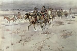 Crees Coming in to Trade by Charles Marion Russell
