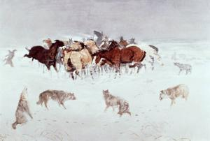 Flying Hooves by Charles Marion Russell