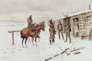 Indian Trading Post by Charles Marion Russell