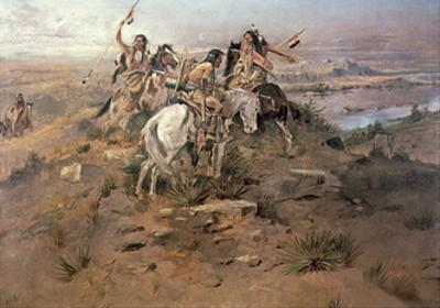 Indians Discovering Lewis and Clark, 1896 by Charles Marion Russell