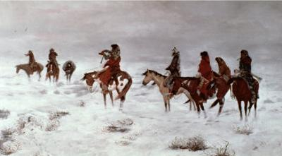 Lost in a Snow Storm - We Are Friends, 1888 by Charles Marion Russell