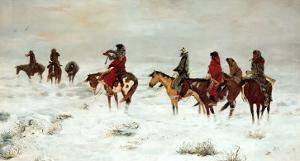 Lost In A Snowstorm, We Are Friends by Charles Marion Russell