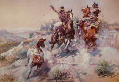 Mad Cow by Charles Marion Russell