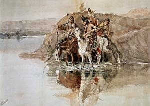 Native American War Party by Charles Marion Russell