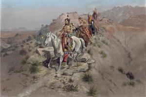 On the Warpath, 1895 by Charles Marion Russell