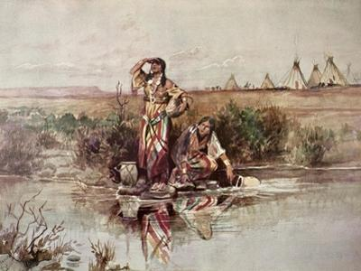 Our Warriors Return, 1895 by Charles Marion Russell