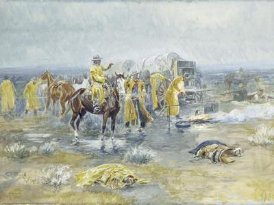 Rainy Morning, 1904 (Watercolour and Gouache on Paper Laid Down on Paperboard)