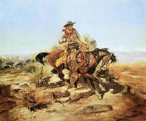Riding Line by Charles Marion Russell
