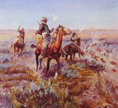 Smokin' 'Em Out by Charles Marion Russell