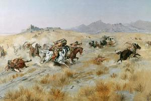 The Attack, 1897 by Charles Marion Russell