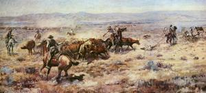 The Round-Up by Charles Marion Russell