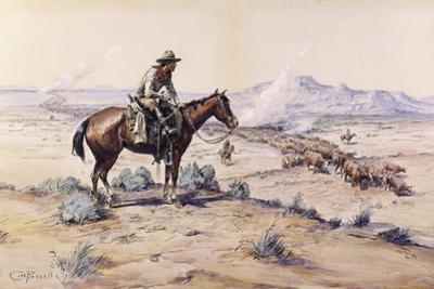 The Trail Boss by Charles Marion Russell