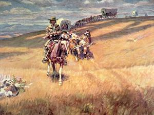 When Wagon Trails Were Dim by Charles Marion Russell