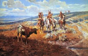 White Man's Buffalo by Charles Marion Russell
