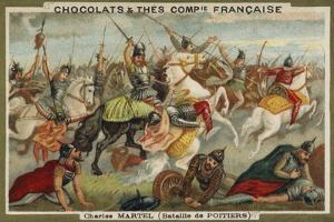 Charles Martel at the Battle of Poitiers