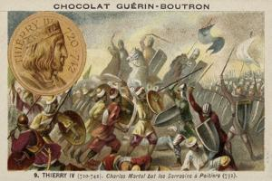 Charles Martel Defeating the Moors at the Battle of Poitiers, 732