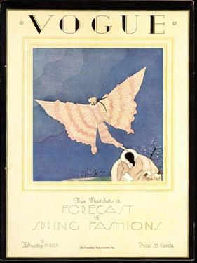 Vogue Cover - February 1925 by Charles Martin